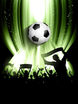 Fondo de multitud de fútbol