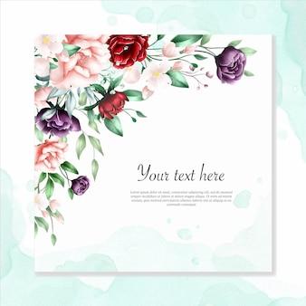 Fondo multiusos acuarela marco floral