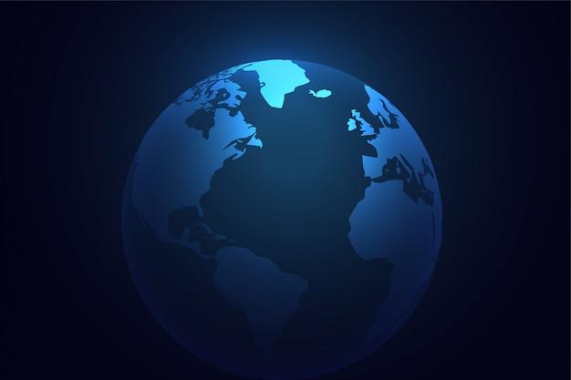 Fondo de mundo planeta tierra azul