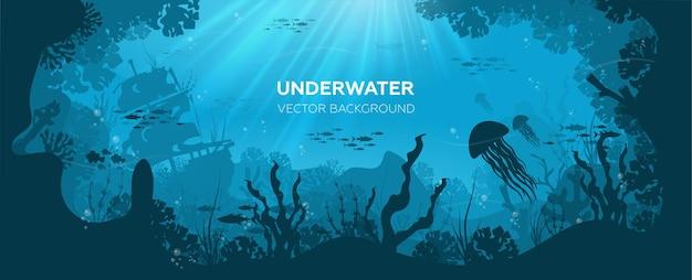 Fondo del mundo submarino del océano
