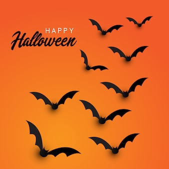 Fondo de murciélagos de halloween