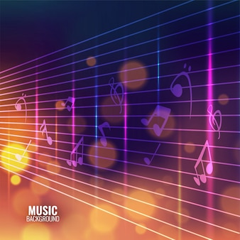 Fondo de música con notas musicales.
