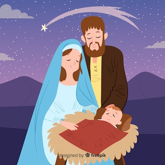 Fondo nacimiento navideño