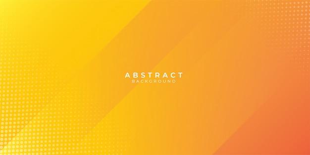 Fondo naranja abstracto con decoración de trama de semitonos