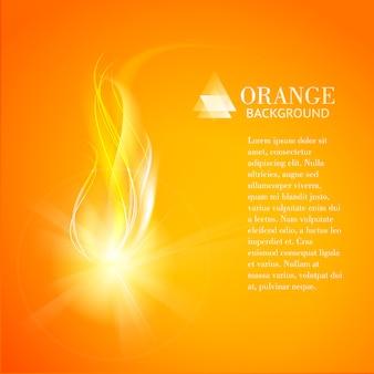Fondo naranja abstracto del fuego de la industria.