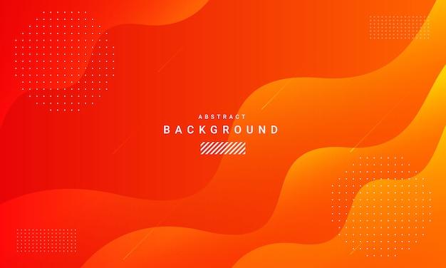 Fondo naranja abstracto con mínimo geométrico y onda