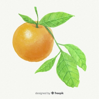 Fondo naranja acuarela