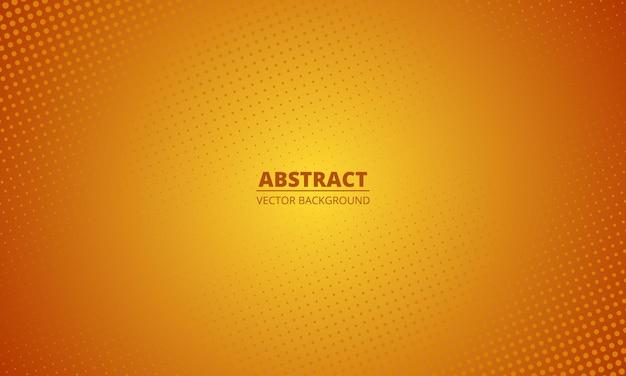Fondo naranja degradado de semitono abstracto. fondo borroso naranja de estilo de dibujos animados.