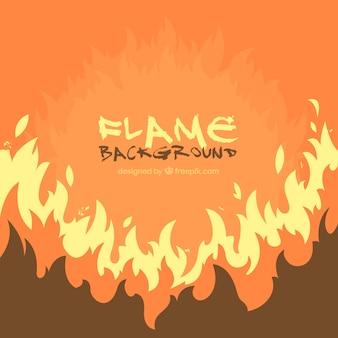 Fondo naranja de llamas