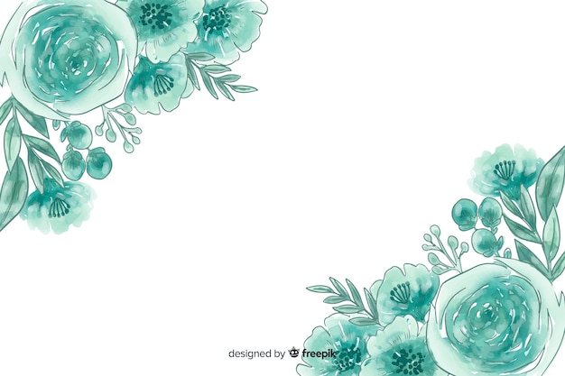 Fondo natural en acuarela con flores