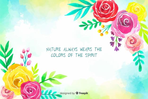 Fondo natural con cita