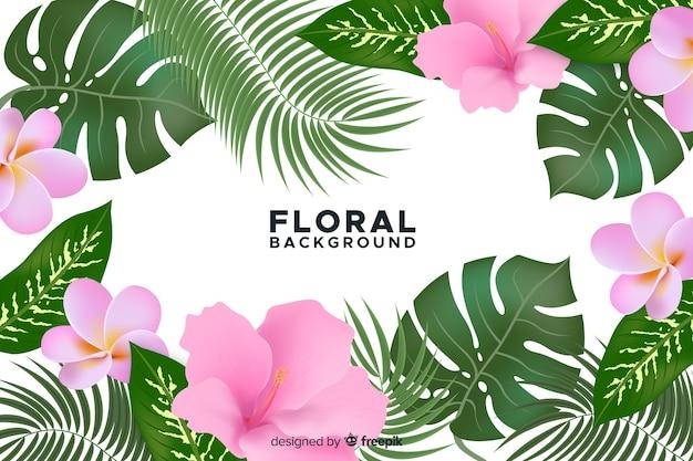 Fondo natural con flores bonitas