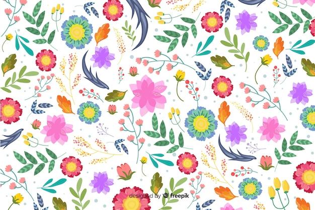 Fondo natural con flores coloridas exóticas