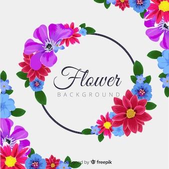 Fondo natural con flores coloridas