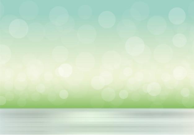 Fondo natural con hierba borrosa y cielo