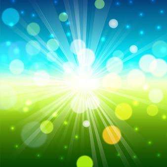 Fondo natural verde abstracto