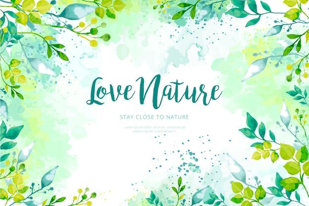 Fondo de naturaleza en acuarela