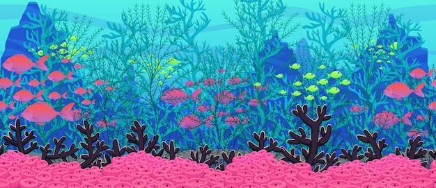 Fondo de naturaleza bajo el agua.