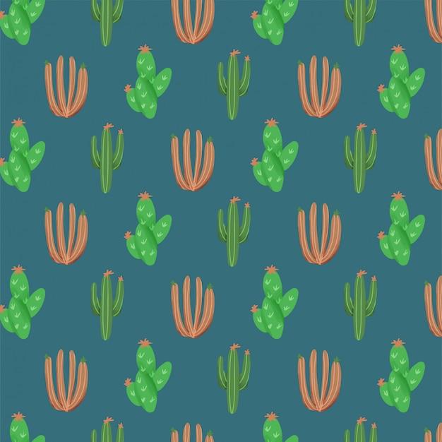 Fondo de naturaleza con cactus de pintura