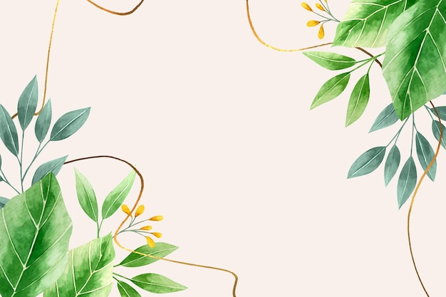 Fondo de naturaleza con lámina dorada