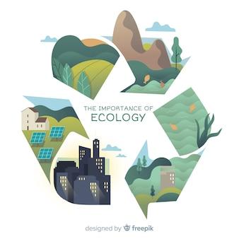 Fondo de naturaleza moderna con el concepto de ecología