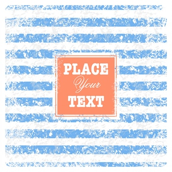Fondo náutico de chatarra vintage con rayas y texto