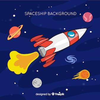 Fondo de nave espacial