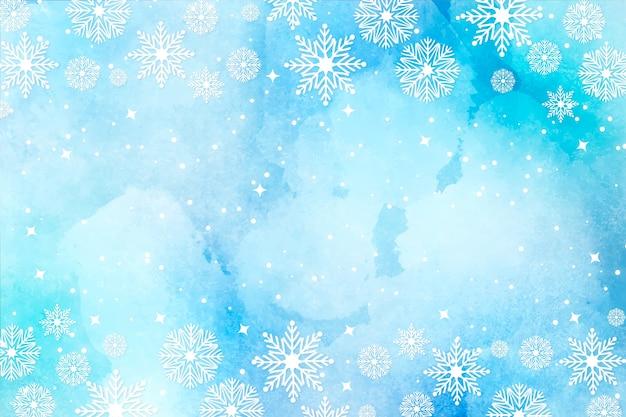 Fondo de navidad en acuarela