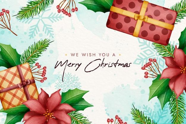 Fondo de navidad acuarela