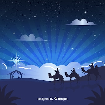 Fondo de navidad adorable con diseño plano