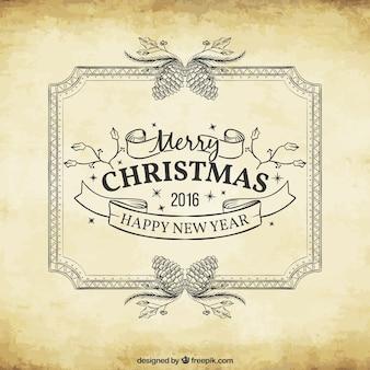Fondo de navidad y año nuevo 2016