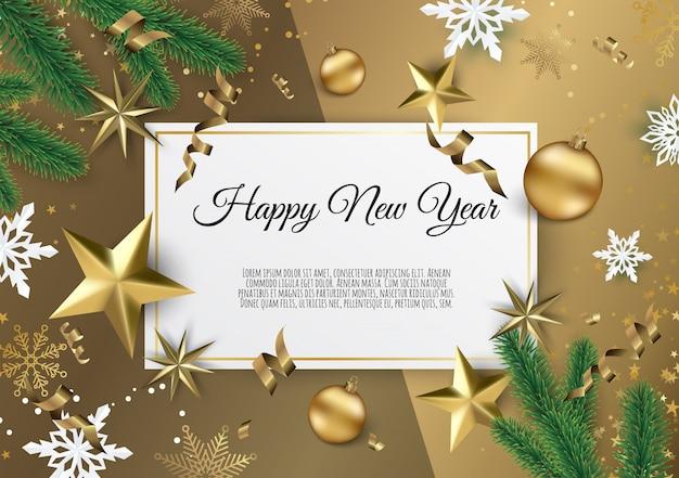 Fondo de navidad y año nuevo, tarjeta de navidad