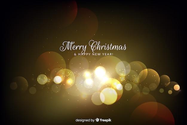 Fondo de navidad bokeh