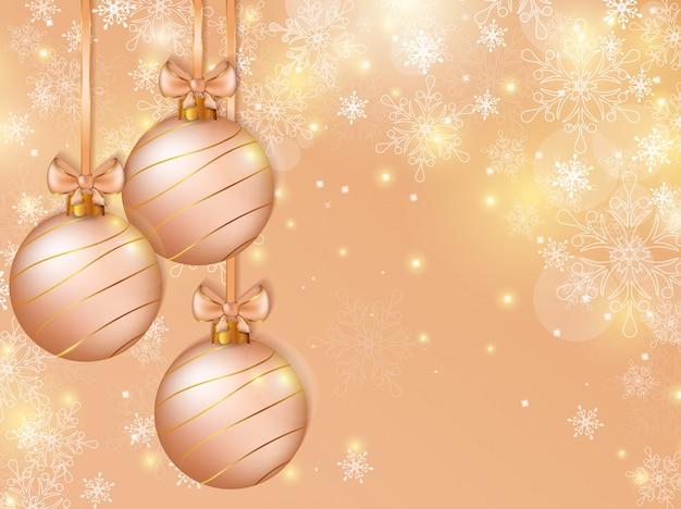 Fondo de navidad con bolas