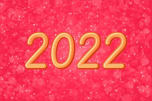 Fondo de navidad brillo rojo abstracto año nuevo 2022
