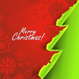 Fondo de navidad con concepto de papel rasgado