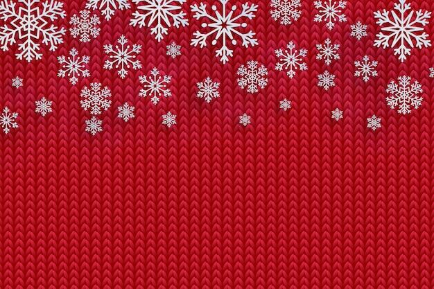 Fondo de navidad con copos de nieve decorativos.