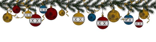 Fondo de navidad y decoración de año nuevo.
