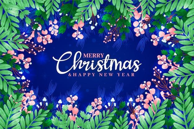 Fondo de navidad dibujado a mano