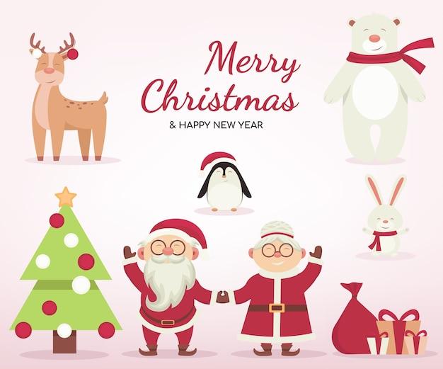 Fondo de navidad de dibujos animados