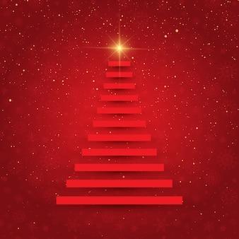 Fondo de navidad con diseño de árbol abstracto