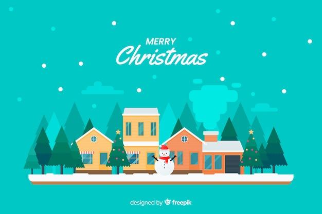 Fondo de navidad en diseño plano