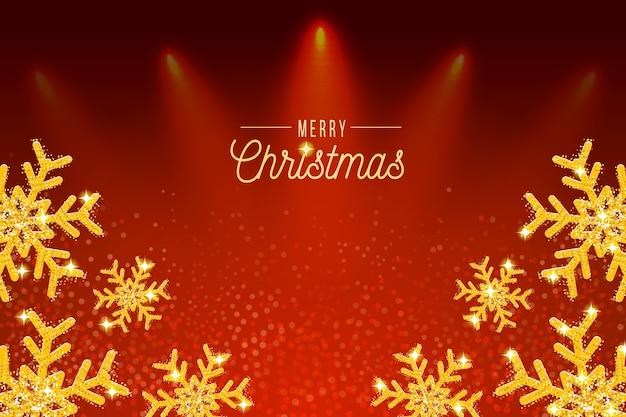 Fondo de navidad con efecto brillo