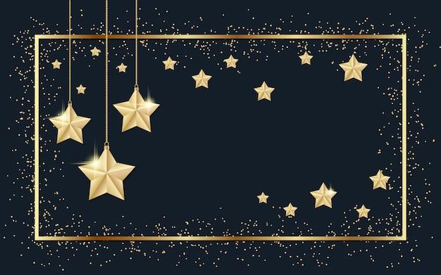 Fondo de navidad con estrellas