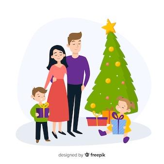 Fondo navidad familia riendo