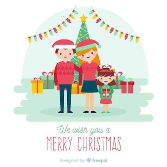 Fondo navidad familiar
