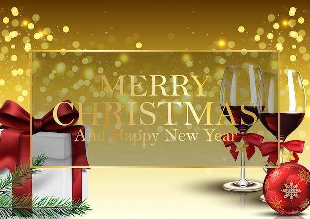 Fondo de navidad y feliz año nuevo.