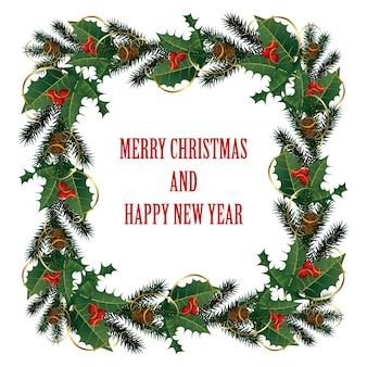 Fondo de navidad. feliz navidad saludo de inscripción.