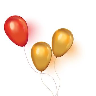 Fondo de navidad con globos de fiesta flotantes