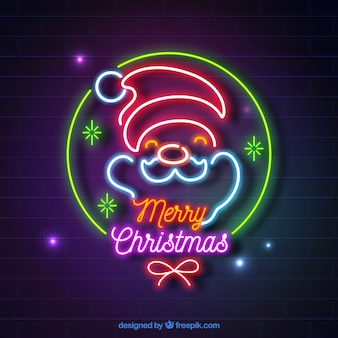 Fondo de navidad hechos de luces de neón